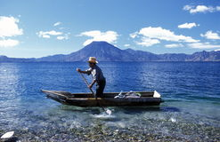 LATIN AMERICA GUATEMALA LAKE ATITLAN Stock Photo