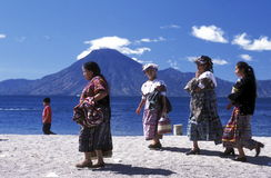 LATIN AMERICA GUATEMALA LAKE ATITLAN Stock Photo