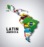 Latin America Map Royalty Free Stock Images