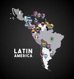 latin america map vector illustration