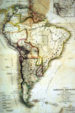 Latin America Map Stock Photography
