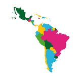 latin america map Royalty Free Stock Photo