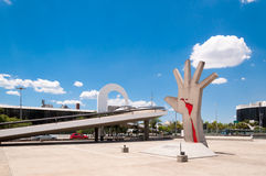 Latin America Memorial Sao Paulo. The Memorial of Latin America is a cultural center, political and leisure in the city of Sao Paulo, Brazil stock photo