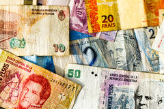 Latin american banknotes Royalty Free Stock Images