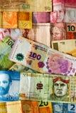 Latin american banknotes Royalty Free Stock Photos