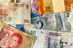 Latin american banknotes Royalty Free Stock Photography