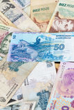 Latin american banknotes Stock Photos