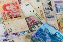 Latin american banknotes Royalty Free Stock Images