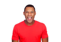 Latin American casual man screaming Royalty Free Stock Photos