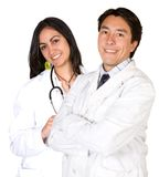 Latin american doctors - male and female Royalty Free Stock Photography