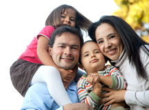 Latin american family Royalty Free Stock Photo