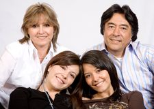 Latin American Family Stock Photo