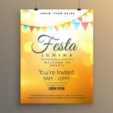 Latin american festa junina festival background poster design Stock Photography