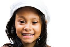 Latin American Girl Smiling Royalty Free Stock Photos