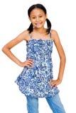 Latin American Girl Standing Royalty Free Stock Photos
