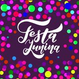 Latin American holiday. Festa Junina. Traditional Brazil June festival party. Vector illustration Stock Image