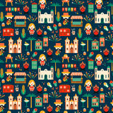 Latin American holiday, the June party of Brazil. Flat seamless pattern Royalty Free Stock Images