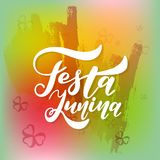 Latin American holiday, the June party of Brazil. Lettering design. Vector illustration Stock Images