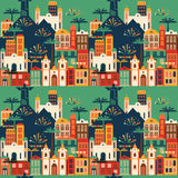 Latin American holiday, the June party of Brazil. Seamless pattern. Royalty Free Stock Photo