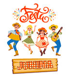 Latin American holiday, the June party of Brazil. Vector illustration Stock Photography