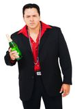 Latin American man holding champagne Stock Photo