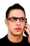 Latin American man talking on mobile Royalty Free Stock Image