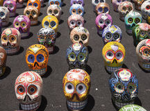 Latin American Painted Skulls Royalty Free Stock Images