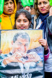 Latin American People Are Welcoming The Ecuador President Royalty Free Stock Image