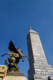 Latin American Tower and Statue Royalty Free Stock Photo