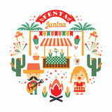 Latin - amerikansk ferie, det Juni partiet av Brasilien Arkivfoton