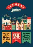 Latin - amerikansk ferie, det Juni partiet av Brasilien Arkivfoto