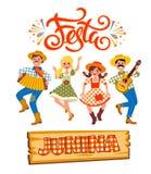 Latin - amerikansk ferie, det Juni partiet av Brasilien också vektor för coreldrawillustration vektor illustrationer