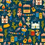 Latin - amerikansk ferie, det Juni partiet av Brasilien seamless modell stock illustrationer