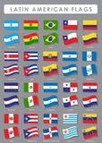 Latin - amerikanska flaggan stock illustrationer