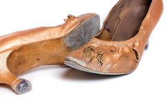 Latin ballroom dance shoes Stock Photos