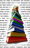 Latin Books Pile. Colorful pile of books with latin text on background Royalty Free Stock Photography