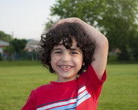 Latin Boy's Joy Royalty Free Stock Images