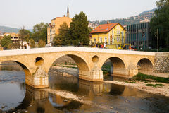 The Latin bridge in Sarajevo Royalty Free Stock Image