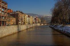 Latin Bridge in Sarajevo Royalty Free Stock Images