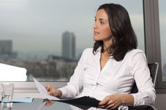 Latin business woman stock image