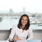 Latin businesswoman looking into the camera Stock Image