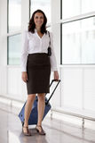 Latin businesswoman travelling Stock Photography