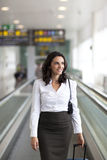 Latin businesswoman travelling Stock Photo