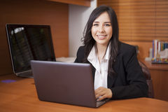 Latin businesswoman at work royalty free stock photo