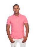 Latin casual men in pink Stock Image