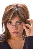 Latin chic with glasses Royalty Free Stock Photo