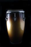 Latin Conga drum on a black Bk Stock Photo
