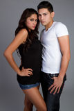 Latin Couple. Young latin couple standing together royalty free stock photo