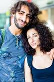 Latin couple embracing Stock Photos