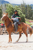 Old Latin Cowboy With A Mustache Riding A Horse Royalty Free Stock Photo